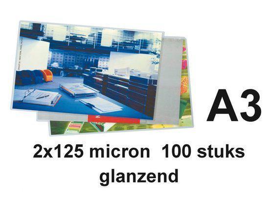 Lamineerhoes A3 125 micron Glans Huismerk
