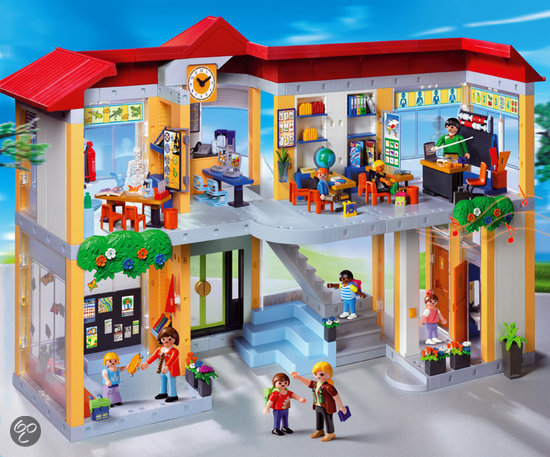 playmobil compleet ingerichte school 4324. Black Bedroom Furniture Sets. Home Design Ideas