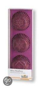 Birkmann Papieren Muffinvormpjes Snowflake Ø 4,5 cm - 72 Stuks - Berry
