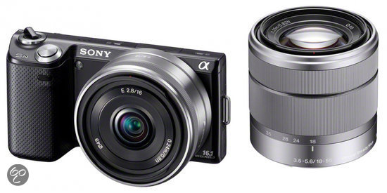 Sony NEX-5ND + 18-55mm + 16mm - Zwart