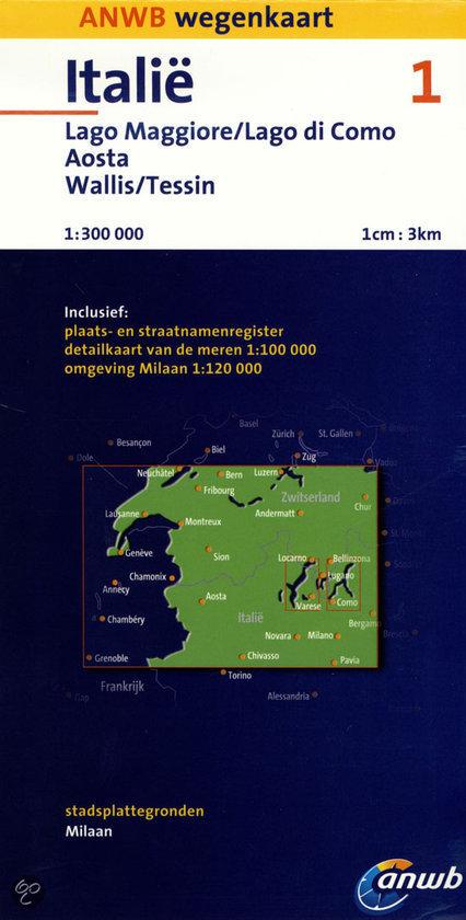ANWB Wegenkaart/ Italië 1