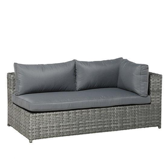 garden impressions royalty lounge bank arm links wicker. Black Bedroom Furniture Sets. Home Design Ideas