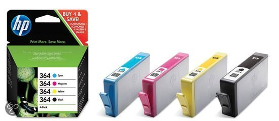 HP 364 - Inktcartridge / Cyaan / Magenta / Geel / Zwart