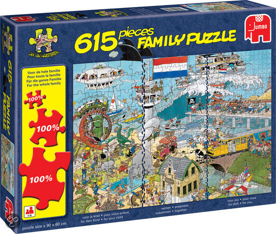 Jan van Haasteren Familie - Puzzel - 615 stukjes - 1000 stukjes