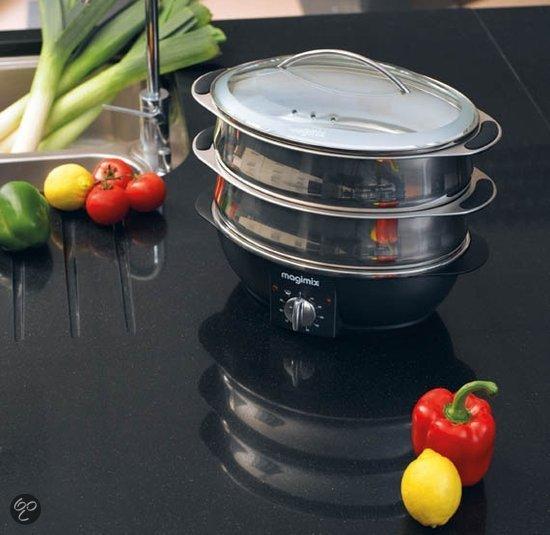 Magimix cuiseur vapeur 11577nl stoomkoker elektronica for Verwijderbaar glas