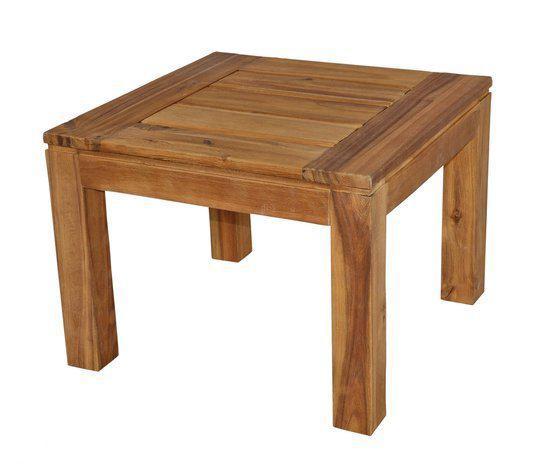 Tuintafel houten bijzettafel tuinmeubel tuintafel 60x60x35cm acacia hout - X houten ...