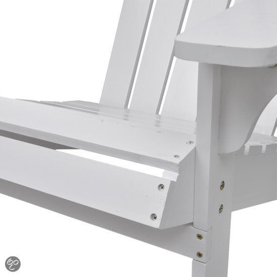 Vidaxl tuinstoel houten tuinstoel strandstoel for Tuinstoel wit