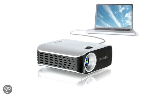 philips picopix 2055 mini beamer projector wvga 55 ansi lumen zilver. Black Bedroom Furniture Sets. Home Design Ideas