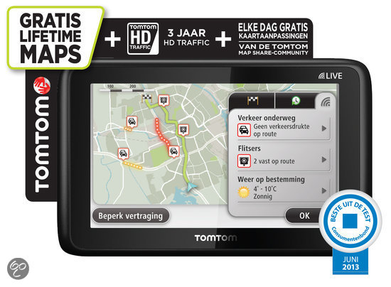 TomTom Go Live 1005 M Europa  - 45 landen + lifetime maps + 3 jaar HD traffic