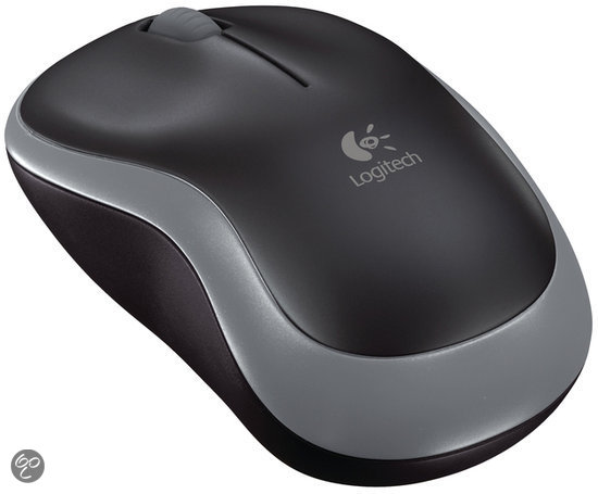Logitech Wireless Mouse M185 Swift - Zwart/Grijs