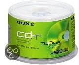 Sony CD-R 80min - 700MB / 48 x 50 / spindel
