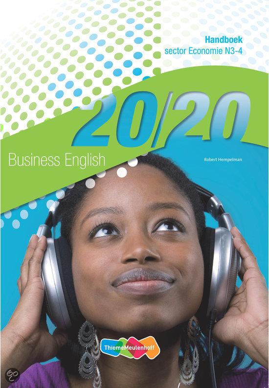 20/20 Business English Handboek / N3-4 / deel sector Economie