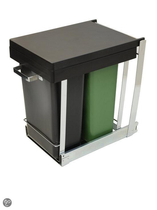 Vuilnisbakken Keuken : bol.com Keukenkast inbouw afvalbak DUO – 2 x 8 l Koken en tafelen