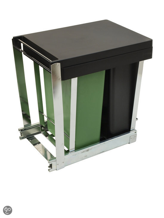 Vuilnisbak Keuken Inbouw : bol.com Keukenkast inbouw afvalbak DUO – 2 x 8 l Koken en tafelen