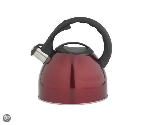 Bredemeijer Universal Fluitketel - 2,5 l - Rood Metallic RVS - Rood