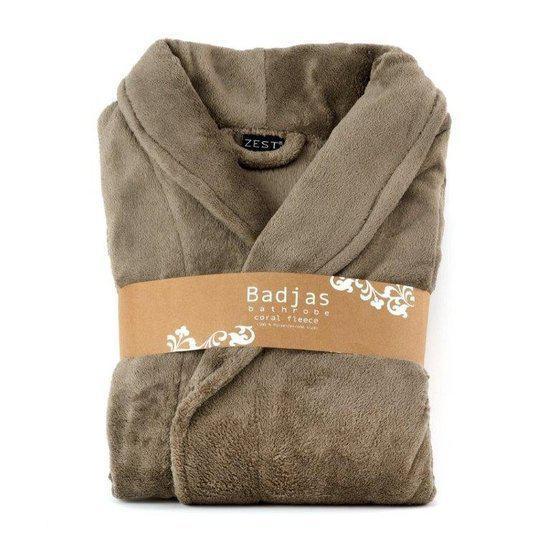 bol.com : Fleece badjas relax taupe : Baby