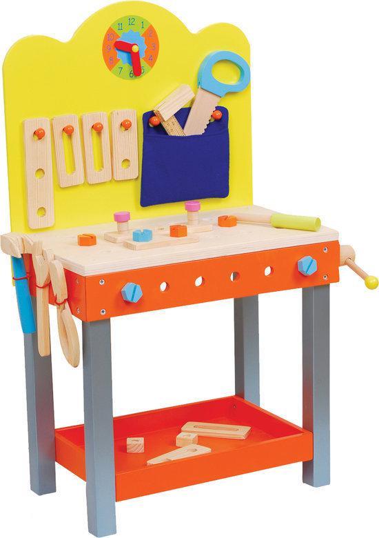 Beste houten werkbank voor uw kind het leukste houten for Poppenhuis kind 2 jaar