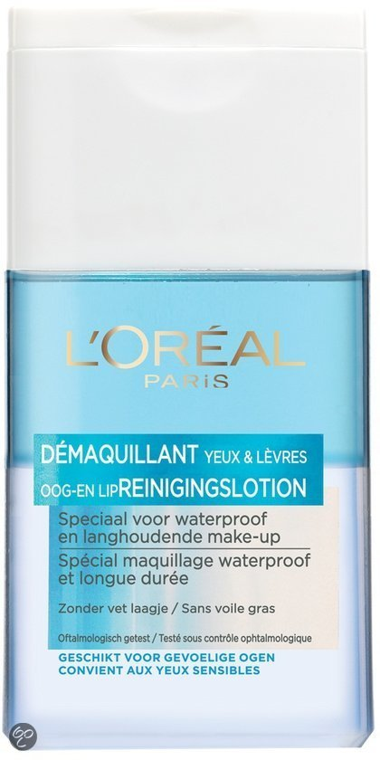 L'Oréal Paris Dermo Expertise Waterproof - Zachte Oog en Lip- Reinigingslotion