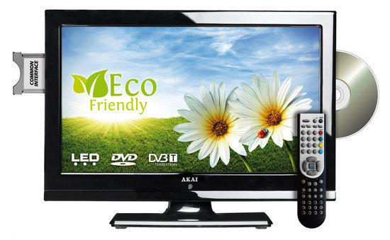 Akai ALED2205TBK - LED Tv/DVD Combo - 22 inch - HD Ready