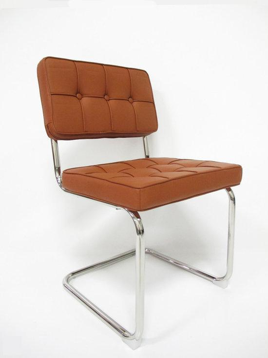 Breazz stoel bauhaus wachtkamerstoel cognac for Bauhaus stoel vintage