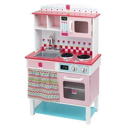 Janod Keuken Roze : Imaginarium Natural Kitchen – Houten keukentje – Roze