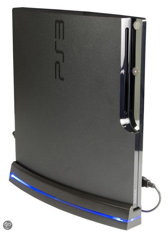 Logic 3 Slim Koeler & Verticale Standaard Zwart PS3