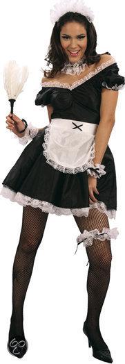 Luxe Franse Meid Lulu - Kostuum - Maat M - Zwart
