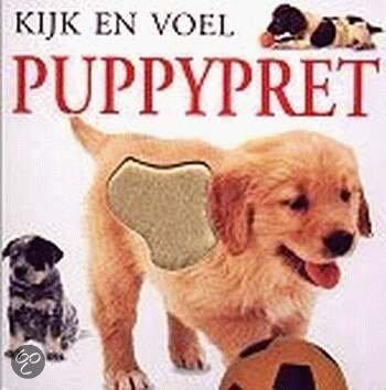 Cover van het boek 'Kijk en voel / Puppypret'