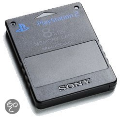 Sony Memory Card 8 MB Zwart PS2