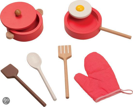 Keukenspullen Winkel : bol.com Janod Keukentje Chic Inclusief 8 accessoires Speelgoed