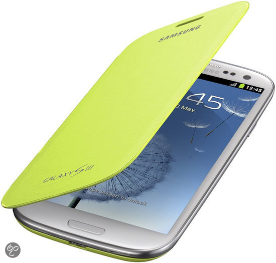 Samsung Flip Cover voor de Samsung Galaxy S3 - Groen