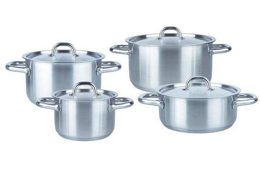 Fissler Family Line - Kookset 4-delig - 3x kookpan  16/20/24, 1x lage kookpan  20 cm
