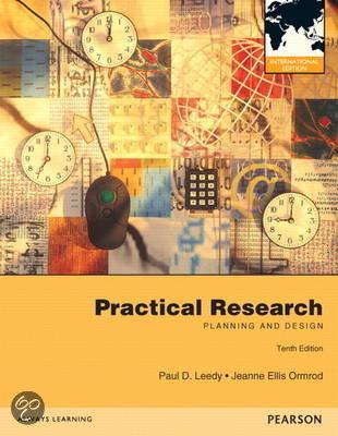 Practical Research Paul D Leedy Jeanne Ellis Ormrod 9780132899505 Boeken