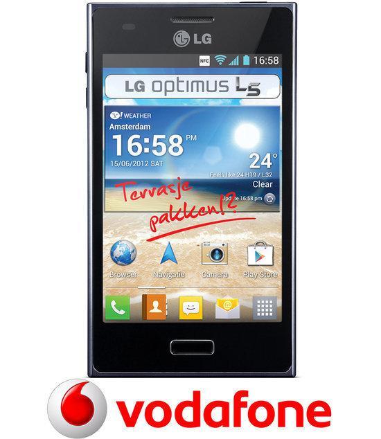 LG Optimus L5 - Zwart - Vodafone prepaid telefoon