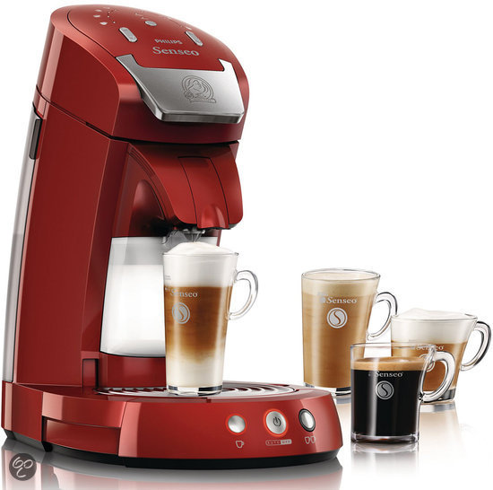 Philips Senseo Latte Select HD7854/80 Koffiepadmachine - Rood
