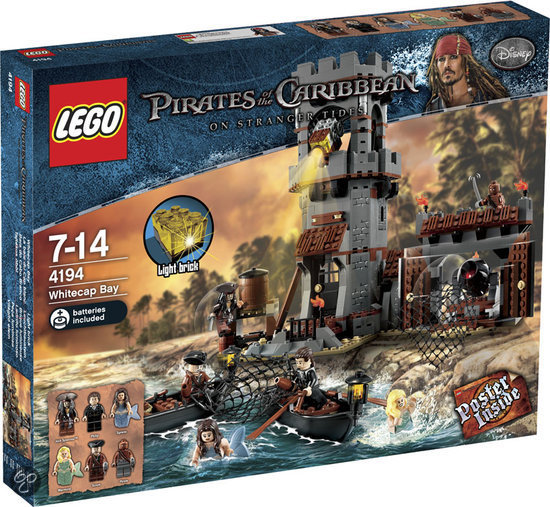 lego pirates of the caribbean witkop baai 4194. Black Bedroom Furniture Sets. Home Design Ideas
