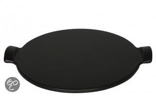 Emile Henry Pizzasteen - Ø 35,5 cm - Zwart