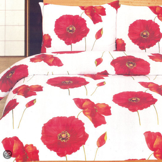 klaproos dekbedovertrekset lits jumeaux 240x200 220 cm dekbedovertrek. Black Bedroom Furniture Sets. Home Design Ideas