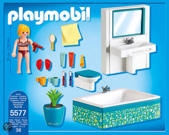 Carrelage Salle De Bain Travertin : Salon Villa Moderne Play Mobil : bol.com Playmobil Badkamer met bad …