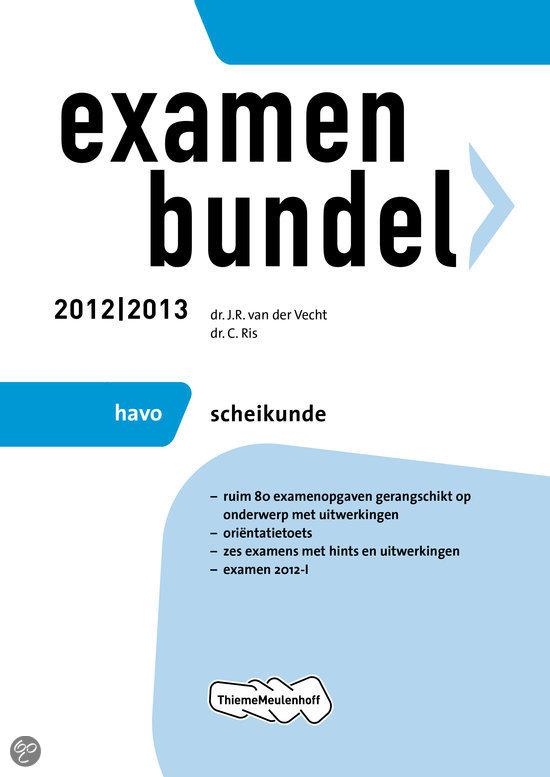 Examenbundel havo  / Scheikunde 2012/2013