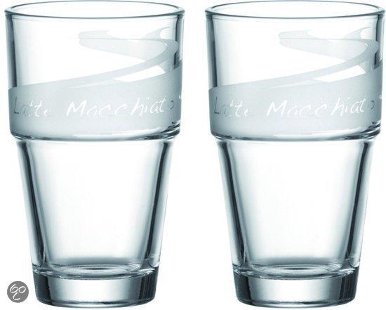 leonardo solo latte macchiato glazen set van 2 glazen koken en tafelen. Black Bedroom Furniture Sets. Home Design Ideas