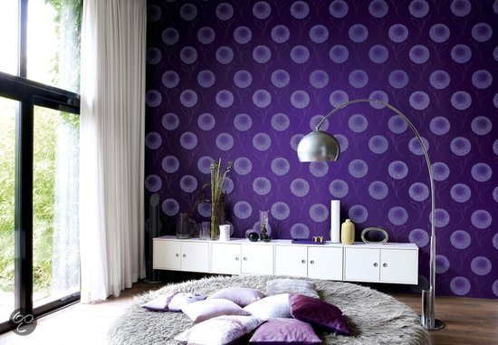 bol.com  Dutch Wallcoverings Bloem - Paars  Klussen