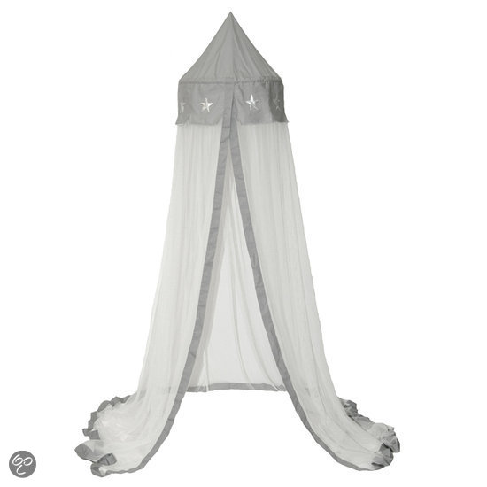 taftan hemeltje sterren zilver grijs baby. Black Bedroom Furniture Sets. Home Design Ideas