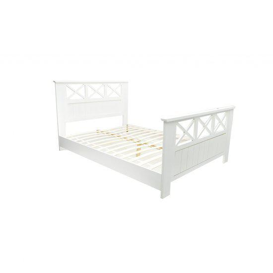 bol.com  vidaXL Bed 2-persoons houten bed 140 x 200 cm 240049  Wonen