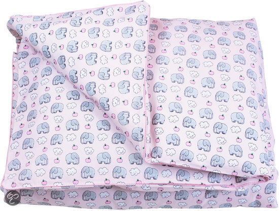 bol com   Little Blond   Dekbedovertrek (incl kussensloop 50×30)   Pink elephant