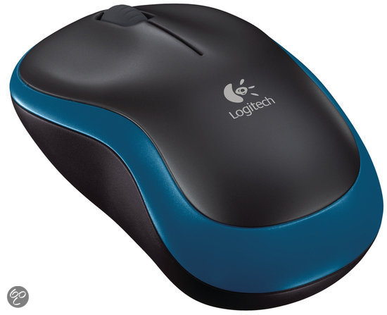 Logitech Wireless Mouse M185 - Blauw