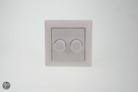 inbouw dimmer duo geschikt voor jung as500 tot 2 x 150w universeel. Black Bedroom Furniture Sets. Home Design Ideas
