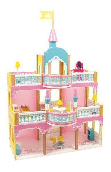 Base toys houten poppenhuis prinsessen kasteel base toys - Kamer buffet heeft houten eet ...