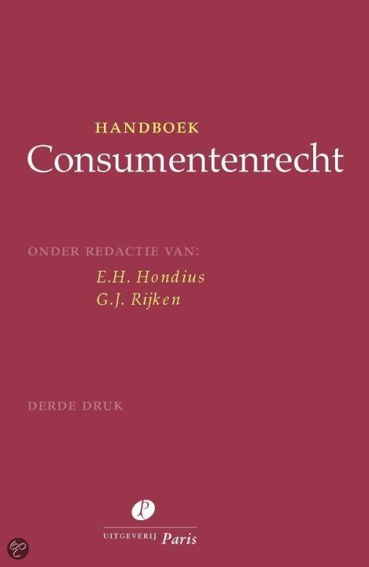 Handboek consumentenrecht