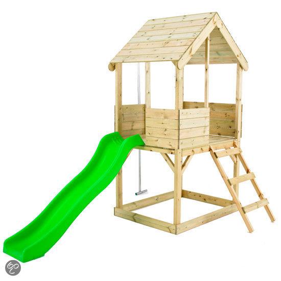 Glijbaan met speelhuisje